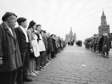 Russian Youths Lined Up in Red Square for an Initiation Ceremony Into Young Pioneers