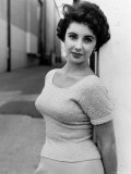 Elizabeth Taylor Outside of Sound Stages during Filming of A Place in the Sun