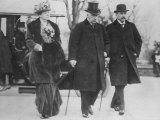 Business Tycoon JP Morgan with Daughter Louisa Morgan and Son JP Morgan Jr