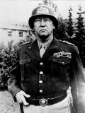 Excellent of Us Four Star Gen George S Patton Jr in Uniform and Helmet