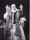 Papal Pius Pope Portrait Serious Throne Undated XII