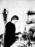 Chemist Marie Curie at Work in Her Laboratory