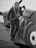 Raf Ace Pilot  South African Albert G Lewis  After an Engagement with Enemy Planes