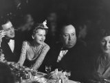 David O Selznick Joan Fontaine  and Alfred Hitchcock and Wife at Academy Award Presentation Dinner