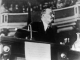 Russian Communist Leader Vladimir Lenin Delivering Speech at a Session of the Second Congress