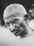 Portrait of Pacifist and Advocate of India's Independence from Great Britain  Mohandas Gandhi