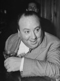 Movie Director Alfred Hitchcock Sits at Chasen's Bar While Enjoying a Cocktail Hour