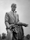 Governor of the Bahamas Duke of Windsor Holding Asparagus Picked by Bahamian Laborers During WWII