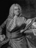 Mezzotint Engraving Based on Painted Portrait of Composer George Frideric Handel