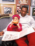 Raven Symone and Bill Cosby on Set of Their Television Series  The Cosby Show
