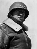 American Three Star General George S Patton Jr  Commander of US 7th Army