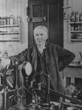 Inventor Thomas Edison in His Laboratory