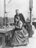 Chemists Pierre Curie and Wife Marie Curie in Their Laboratory