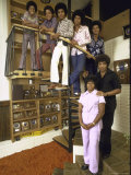 Jackson Five Michael  Marlon  Tito  Jermaine  Jackie and Parents Mr and Mrs Joseph Jackson