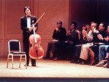 """Master Cellist Yo-Yo Ma with Stradivarius Cello Receiving Applause after performing """"Cello Suites"""""""