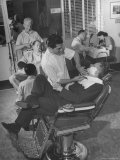 Screenwriting Team of Charles Brackett and Billy WilderWorking in the Paramount Studio Barbershop