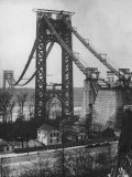 Main Towers and Cables of the George Washington Bridge under Construction