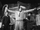 "Sidney Poitier in Dramatic Scene from Play ""A Raisin in the Sun""  Actress Ruby Dee Visible on Right"