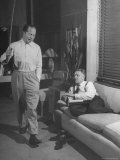 Screenwriting Team of Director Billy Wilder and Producer Charles Brackett Working at Paramount