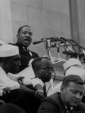 Rev Martin Luther King Jr Speaking During a Civil Rights Rally
