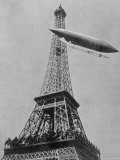Airship No5 of French Inventor and Fashion Plate Alberto Santos Dumont Reaching the Eiffel Tower