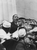 "Rev Martin Luther King Jr Giving His ""I Have a Dream"" Speech During a Civil Rights Rally"