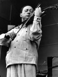 Violinist Jasha Heifitz Rehearsing for the Berkshire Music Festival