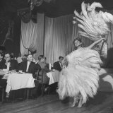 Customers at Sally Rand's Nightclub Watching a Dancer Performing the Midnight Fan Dance