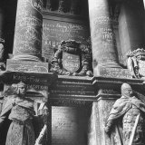 Ornate Archway  Statuary Inside Reichstag Building in Graffiti by Conquering Russian Soldiers
