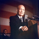 President Dwight D Eisenhower Addressing Group of Supporters Gathered at Sheraton Park Hotel