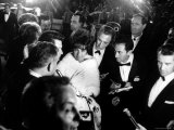 Elizabeth Taylor  After Winning an Oscar  in Crowd with Husband  Eddie Fisher