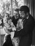 Orson Welles  Wife Rita Hayworth and Infant Daughter Rebecca at Home