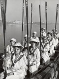 Oakland Women's Rowing Club Comprised of 10 Grandmothers at Lake Merritt Boathouse for Practice