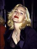 Madonna in Dark Red Lipstick