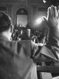 Sen Joseph McCarthy Swearing in Hearing on Communisn where Hammet Suspected of Being a Communist