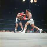 "Cassius Clay  aka Muhammad Ali Throwing Famous ""Phantom Punch"""