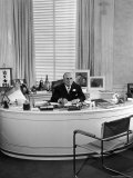 MGM Movie Mogul Louis B Mayer  Sitting at His Desk in His Office