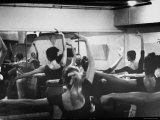 Ballet Master George Balanchine Working with Dancers at Morning Class During NYC Ballet Company