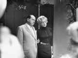 Marilyn Monroe with Her Lawyer Jerry Giesler After Announcement of Her Divorce From Joe DiMaggio