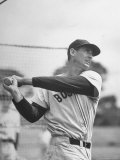 Baseball: Boston Red Sox Ted Williams Alone During Batting Practice