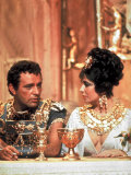 Richard Burton and Elizabeth Taylor  in Costume  Chatting on Set During Filming of Cleopatra