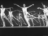 Dancers of New York City Ballet Company Rehearsing for Production of Symphony in Three Movements