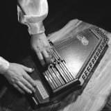 Hands of Sara Carter of the Legendary Carter Family Musicians  Fingering an Autoharp