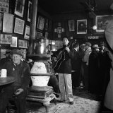 Woody Guthrie Playing in McSorley's Pub