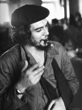 Cuban Rebel Ernesto &quot;Che&quot; Guevara  Left Arm in a Sling  Talking with Unseen Person