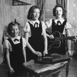 Country Western Singing Carter Sisters Anita  June and Helen  Singing  Playing Autoharp and Guitar