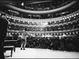 Ray Charles Singing  with Arms Outstretched  During Performance at Carnegie Hall