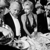 Ambassador Winthrop Aldrich  Ex Envoy to Britain Chatting with Actress Marilyn Monroe