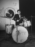 Drummer Gene Krupa Performing at Gjon Mili's Studio