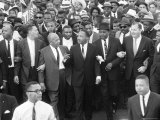 Walk to Freedom Marchers Including Dr Martin Luther King Jr and Detroit Mayor Jerome P Cavanaugh